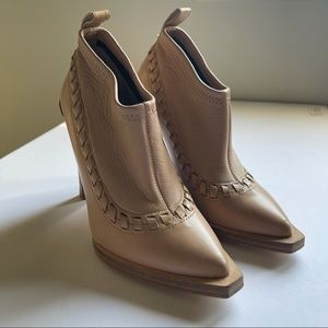Alexander Wang tan Leather ankle boots size 36